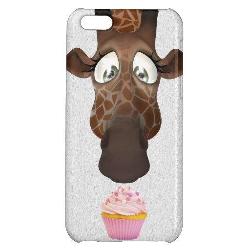 Cute Giraffe & Pink Cupcake iPhone 5C Case