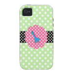 Cute giraffe polka dots Case-Mate iPhone 4 case