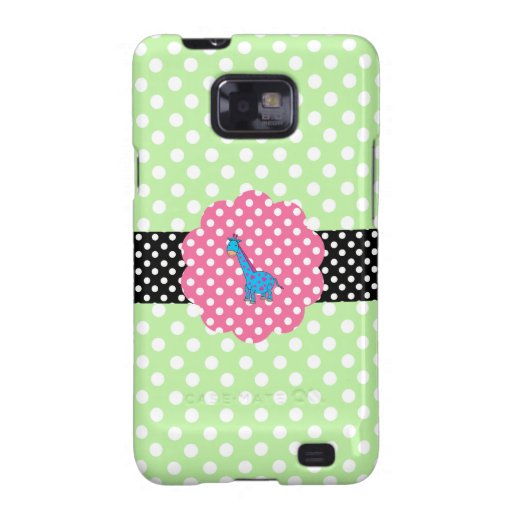 Cute giraffe polka dots galaxy SII cover