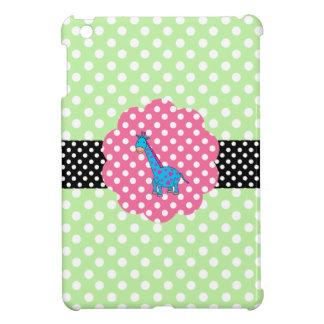 Cute giraffe polka dots iPad mini cover