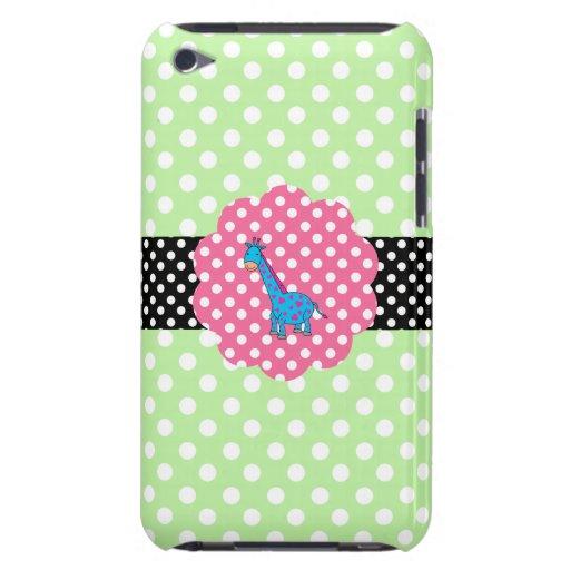 Cute giraffe polka dots iPod Case-Mate cases