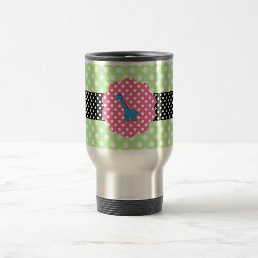 Cute giraffe polka dots mug