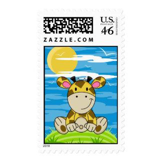 Cute Giraffe Postage Stamp