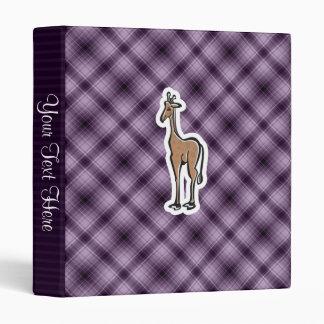 Cute Giraffe; Purple Vinyl Binder