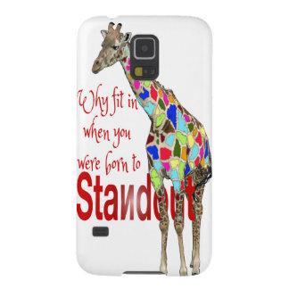 Cute giraffe quote - Standout Case For Galaxy S5