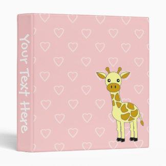 Cute Giraffe School Binder
