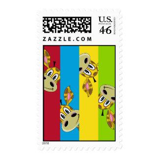 Cute Giraffe Stripe Stamp