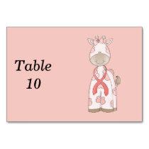 Cute Giraffe Table Number