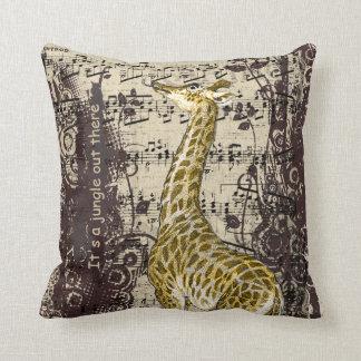 Cute Giraffe Throw Pillow
