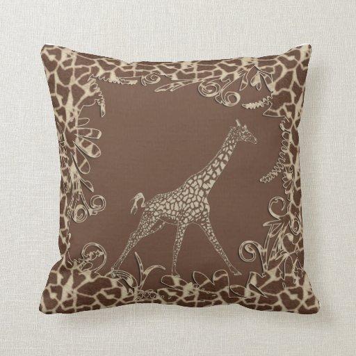 Cute Giraffe Throw Pillows Zazzle