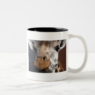 Cute Giraffe Two-Tone Coffee Mug