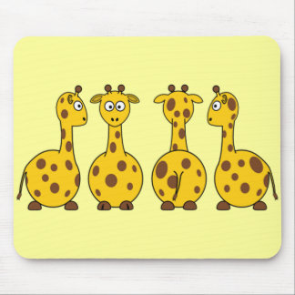 Cute Giraffe, Wild Animal Mouse Pad