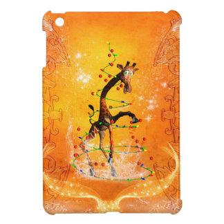 Cute  giraffe with christmas tree cover for the iPad mini