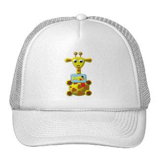 Cute Giraffe with Goldfish Mesh Hat