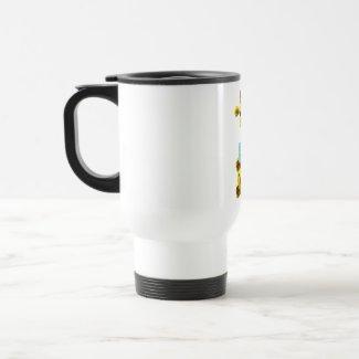 Cute Giraffe with Goldfish mug