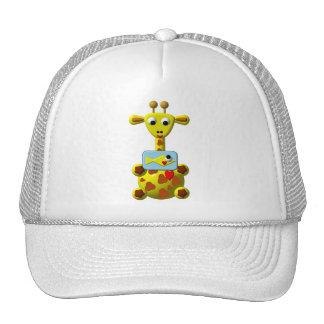 Cute Giraffe with Goldfish Trucker Hat