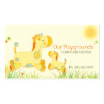 Cute Giraffes Childcare Daycare Baby Business Business Cards