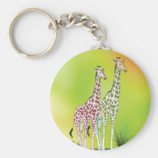 Cute Giraffes Key Chain