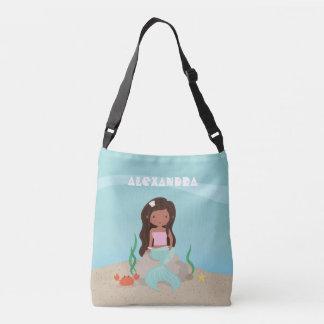 Cute Girl African American Little Mermaid Bag