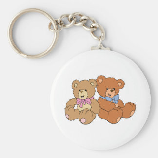 Cute Girl and Boy Bear Keychain