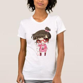 Cute girl and kawaii bunny shirt