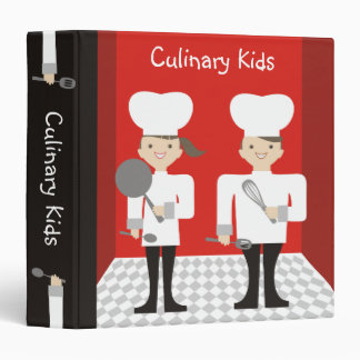 cute girl boy chefs cooking classes recipe binder