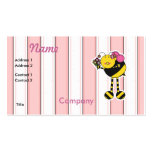 Cute Girl Bumble Bee Double-Sided Standard Business Cards (Pack Of 100)