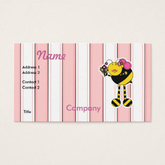 Cute Girl Bumble Bee Business Card