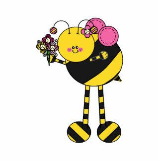 Cute Girl Bumble Bee Photo Cut Outs