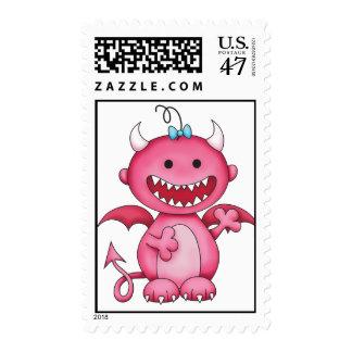 Cute Girl Devil Stamp