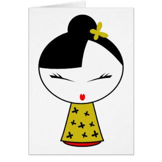 Cute Girl Doll Card