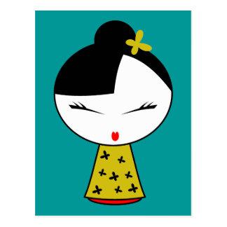 Cute Girl Doll Postcard