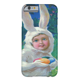 Cute Girl Easter Bunny Costume Field Barely There iPhone 6 Case