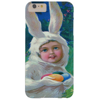 Cute Girl Easter Bunny Costume Field Barely There iPhone 6 Plus Case