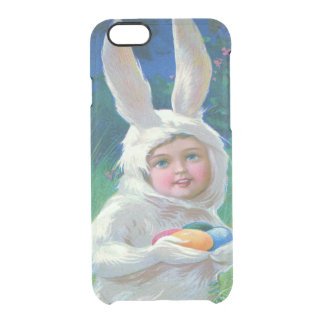 Cute Girl Easter Bunny Costume Field Clear iPhone 6/6S Case