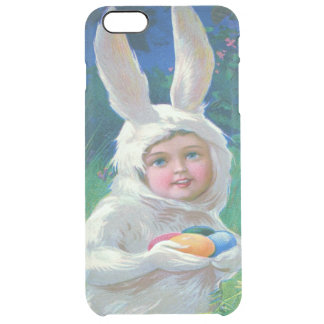 Cute Girl Easter Bunny Costume Field Clear iPhone 6 Plus Case