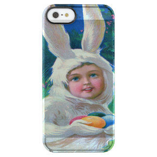 Cute Girl Easter Bunny Costume Field Clear iPhone SE/5/5s Case