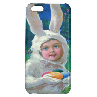 Cute Girl Easter Bunny Costume Field iPhone 5C Cover