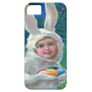 Cute Girl Easter Bunny Costume Field iPhone SE/5/5s Case