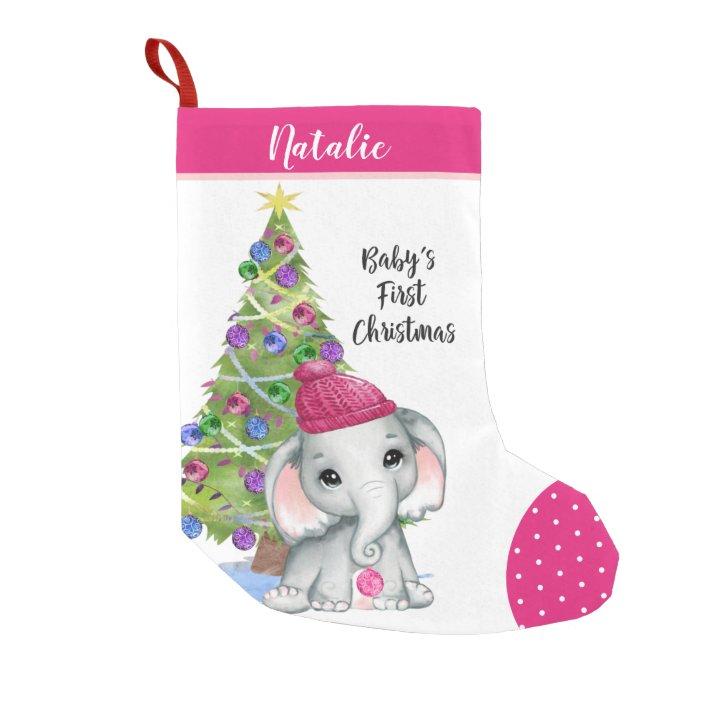 pink stars on white girl stocking Baby/'s first Christmas baby stocking novelty stocking,personalized stocking, kids stocking