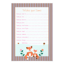 Cute Girl Fox Wishes for Baby Cards