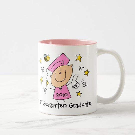 Cute Girl Grad Custom Two-Tone Coffee Mug