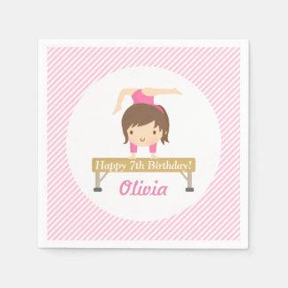 Cute Girl Gymnastics Kids Birthday Party Supplies Paper Napkin