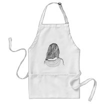 artsprojekt, salon, hairstylist, teen, dresser, woman, female, stylist, stylists, women, professional, beauty, fashion, hairstyle, minimalist, hairstylists, illustration, spa, young, minimalism, hairdresser, white, design, saloon, beautician, consultant, girl, hair, home, Apron with custom graphic design
