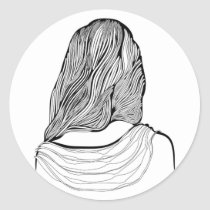 artsprojekt, hairstyle, fashion, hair, girl, stylist, hairdresser, illustration, young, teen, female, saloon, woman, beauty, design, black, white, morning, home, minimalism, minimalist, women, naive, stylists, salon, hairstylist, beautician, hairstylists, occupations, spa, consultant, professional, Sticker with custom graphic design
