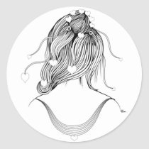 hearts,artsprojekt,hairstyle,fashion,hair,girl,stylist,illustration,minimalist,modern,female,hairdresser,young,teen,saloon,woman,beauty,design,black,white,morning,minimalism,women,naive,stylists,salon,hairstylist,beautician,hairstylists,occupations,dresser,spa,consultant,professional,barber,contemporary,love,gifts, Sticker with custom graphic design