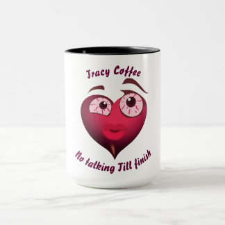 Cute Girl Heart With Blood Shot Eyes Mug