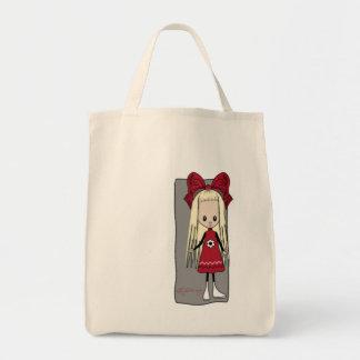 Cute Girl Heather Tote Bag