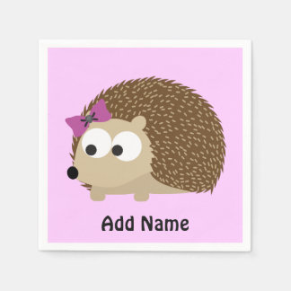 Cute Girl Hedgehog Napkin