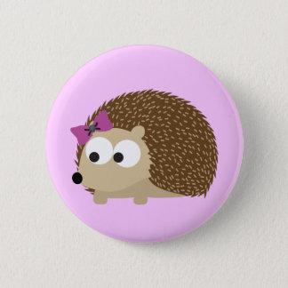 Cute Girl Hedgehog Pinback Button